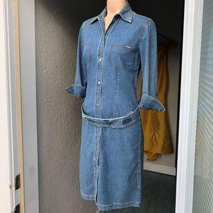 ESCADA Sport belted denim coat/shirt  DRESS Sexy